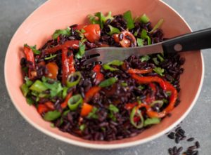 Fast Black Rice Salad ideal for UK's National Picnic Week from Love Your Gut www.loveyourgut.com